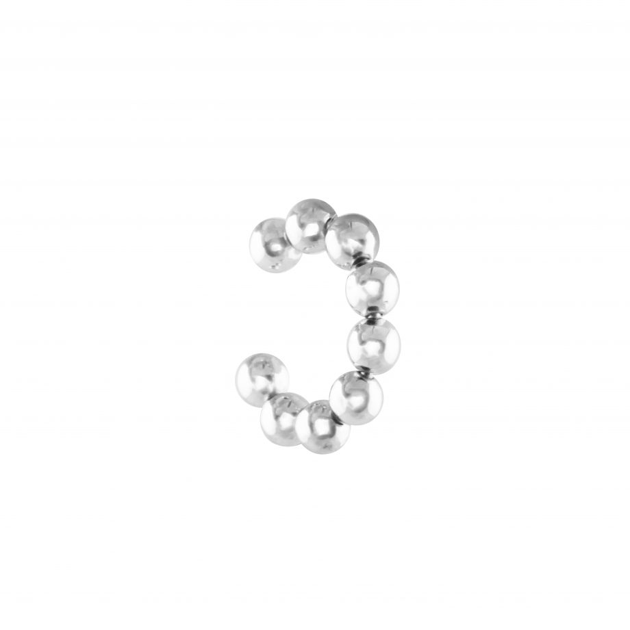 Bubble small Earcuff Silver