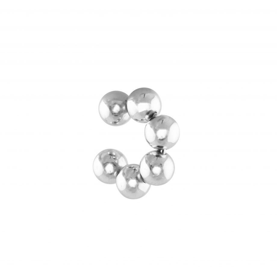 Earcuff bubble silver R